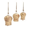 Benzara The Holy Set Of 3 Metal Gold Bell