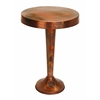"Benzara Vintage Inspire Metal Copper Accent Table 26""H, 19""W"