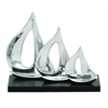 Benzara Unique Aluminum Three Sailboat Décor With Glossy Appeal