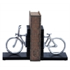 Stylish Aluminum Cycle Bookend With Attention Grabbing Design
