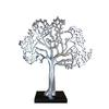 Exquisite Aluminum Tree Décor In Rich Silver Finish And Black Base