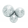 Benzara Set Of 3 Decor Ball In Silver Finish