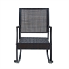 Classy Metal And Pe Rattan Swing Chair, Brown