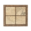 Trendy Wood Map Wall Decor, Beige & Brown