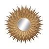 Glamorous Metal Wall Mirror, Golden