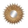 Glamorous Metal Wall Mirror, Golden