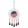 Fashionable Metal Sun Windchime, Red, Blue And White