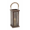 Benzara Well Designed Attractive Metal Glass Lantern