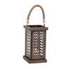 Benzara Fascinating Styled Metal Glass Lantern