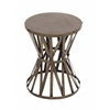 Benzara The Rustic Metal Accent Stool