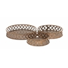 Benzara Rustic And Simple Metal Tray Set Of 3