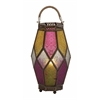 Benzara Brighten With Metal Glass Lantern