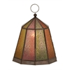 Benzara Cool And Colorful Metal Glass Lantern