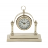 Gleaming Aluminum Table Clock