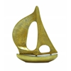 Benzara Aluminium Sail Boat With Distressed Texture