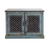 The Charming Wood Pierced Door Cabinet