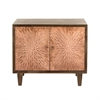 Chic Wood 2 Door Cabinet, Shades of Brown