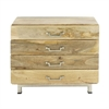 Chic Wood Stainless Steel Cabinet, Natural Brown