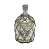 Benzara Glass Jute Bottle With Inner Layer Is Coated In Silver Color