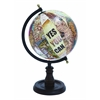 Benzara Wood Globe With Sturdy Base And Printed Graphics