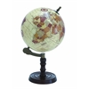 Benzara Wood Globe With Sturdy Base And Sea Routes