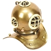 Benzara Brass Diving Helmet For Smaller Spaces