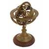 "Aluminum Armillary 9""H, 6""W Nautical Maritime Decor"