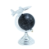 Benzara Aluminium Globe With Airplane Axis Design