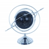 Benzara Metal Globe With Attractive Concentric Circle Pattern
