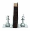 Benzara Metal Bookend Pair With Broad Stable Base