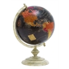 Benzara Metal Globe With Metallic Base & Glossy Polish