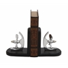"Benzara Propeller Wood Aluminum Bookend Pr 6""W, 7""H"