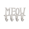 "Aluminum Meow Wall Hook 12""W, 6""H"