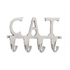 "Benzara Aluminum Cat Wall Hook 12""W, 7""H"