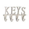 "Aluminum Keys Wall Hook 12""W, 6""H"