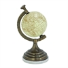 Striking Aluminum Marble Globe, Black, Chrome Silver