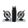 Gorgeous Aluminum Marble Book End Pair, Chrome silver