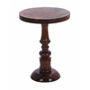 Benzara Wooden Round Shaped Pedestal Table With Traditional Design