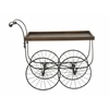 Benzara Outstanding Metal Wood Village Cart