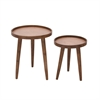Awesome Wood Metal Copper, Natural Wood, Set Of 2 Side Table