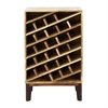Functional Wood Wine Rack, Natural Brown