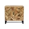 Chic Wood Side Board Cabinet, Black