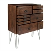 Amazing Wood Metal Chest, Natural Brown