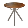 Enticing Metal Wood Side Table, Black & Grey