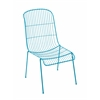 Benzara The Cool Metal Chair Blue