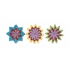 Benzara Beautiful And Adorable Assorted Set Of 3 Flower Wall Decor