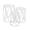 Benzara The Heavenly Set Of 3 Metal Plant Stand