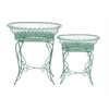 Benzara The Intricate Set Of 2 Metal Plant Stand