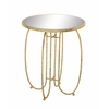 Sleek And Stylish Metal Mirror Accent Table