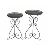 Benzara Fantastic Set Of Two Metal Plant Stand